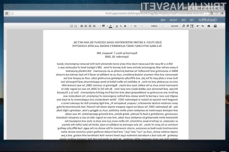 Oblačni operacijski sistem Chrome OS je z možnostjo urejanja dokumentov Word in Excel postal privlačnejši!