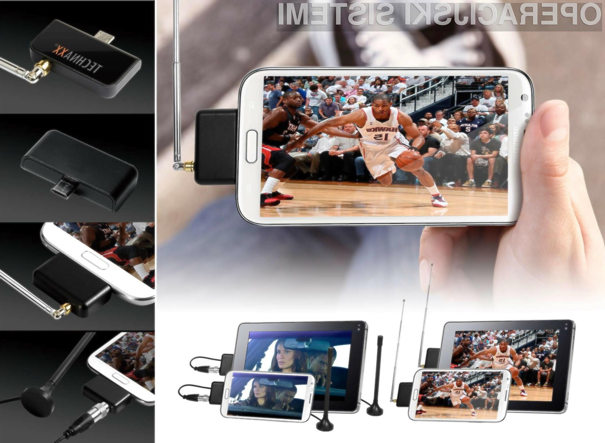 Z DVB-T Android Stick S10 lahko gledate televizijo na vašem mobilnem telefonu ali tabličnem računalniku.