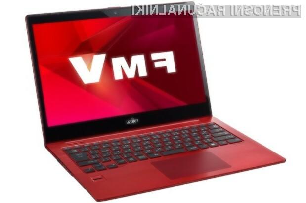 Prenosnik Lifebook UH90 krasi živo rdeča barva. (foto: ubergizmo)