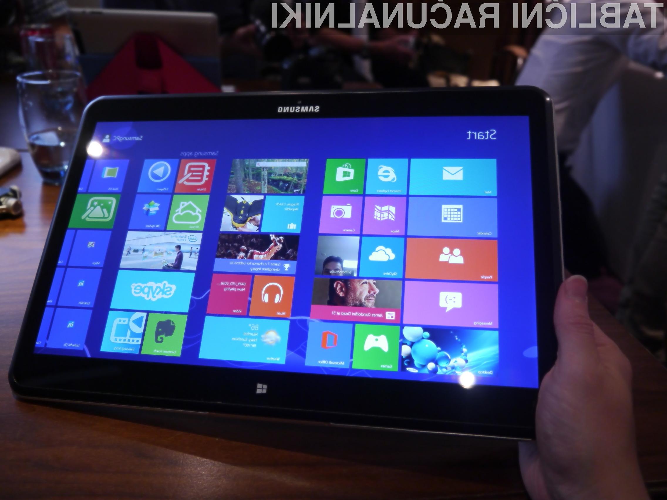 Samsung ATIV Q se odlično obnese tako v vlogi prenosnika kot tablice!