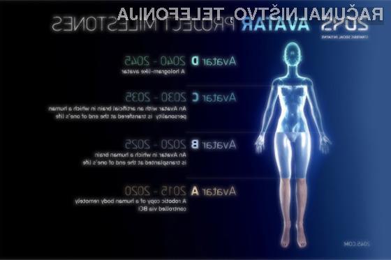 Projekt 2045 bo skušal v štirih fazah spraviti vašo zavest v virtualnega avatarja.