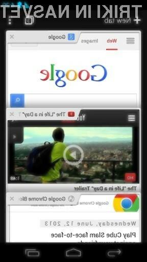 Glavna aduta brskalnika Chrome 28 za Android sta prevajalna vrstica in celozaslonski način za tablice.