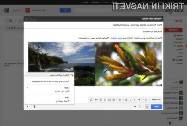 Novi odjemalec elektronske pošte Gmail je postal še uporabnejši!