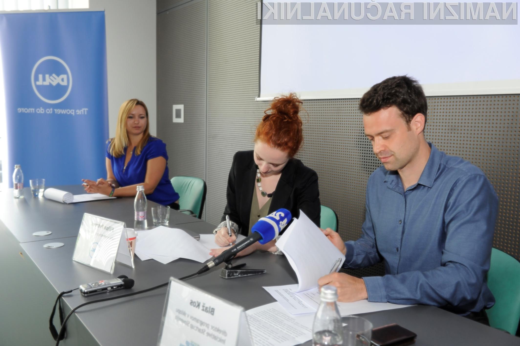 Dell in Iniciativa Start:up Slovenija sta podpisala pogodbo o partnerskem sodelovanju.