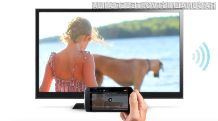 Prikazovanje vsebin iz mobilnih naprav Android na domači televizor še nikoli ni bilo enostavnejše!