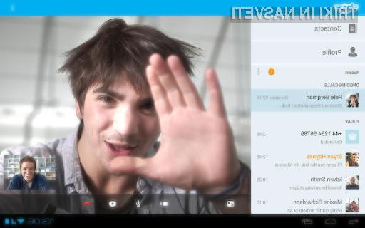 Novi Skype za Android ponuja vse možnosti različice namenjene osebnim računalnikom!