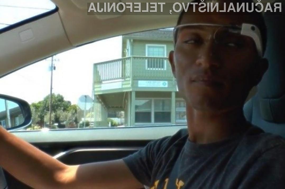 Večpredstavnostna očala Google Glass v navezi z namensko aplikacijo lahko pripomorejo k večji prometni varnosti.