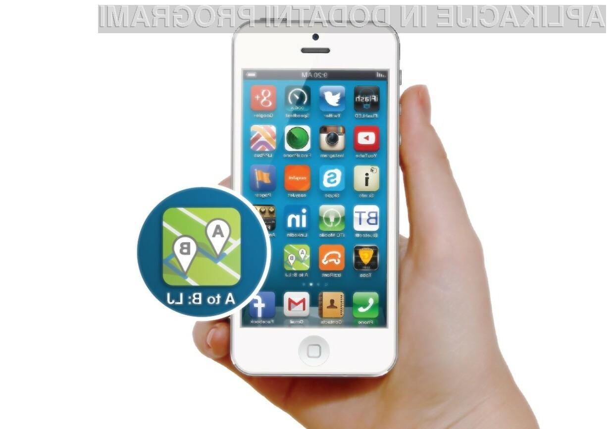 Mobilna aplikacija A do B: LJ ponuja optimalno izbiro poti za kolo, avtobus in hojo.