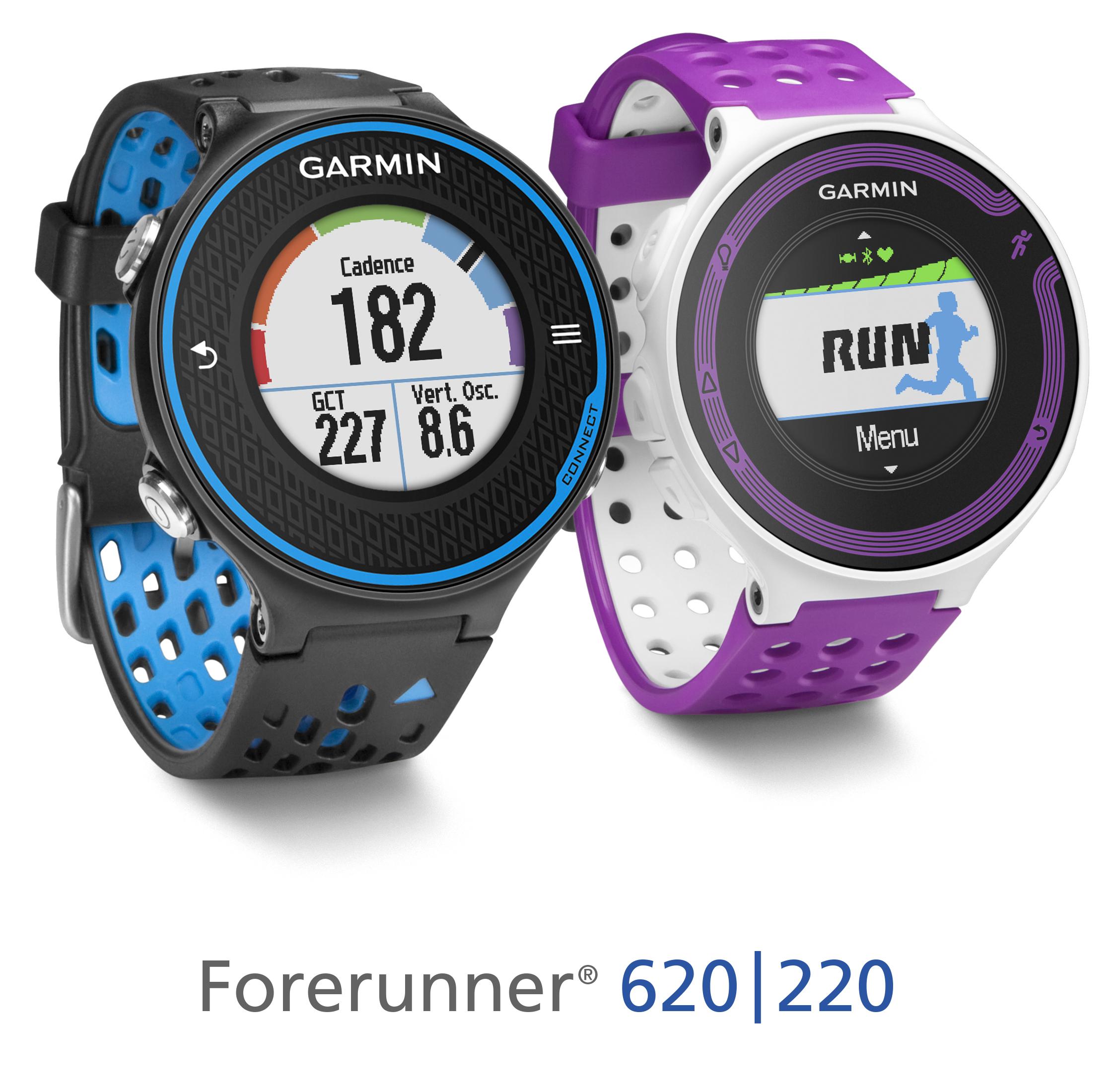 Garmin Forerunner 620 in 220 GPS tekaški uri