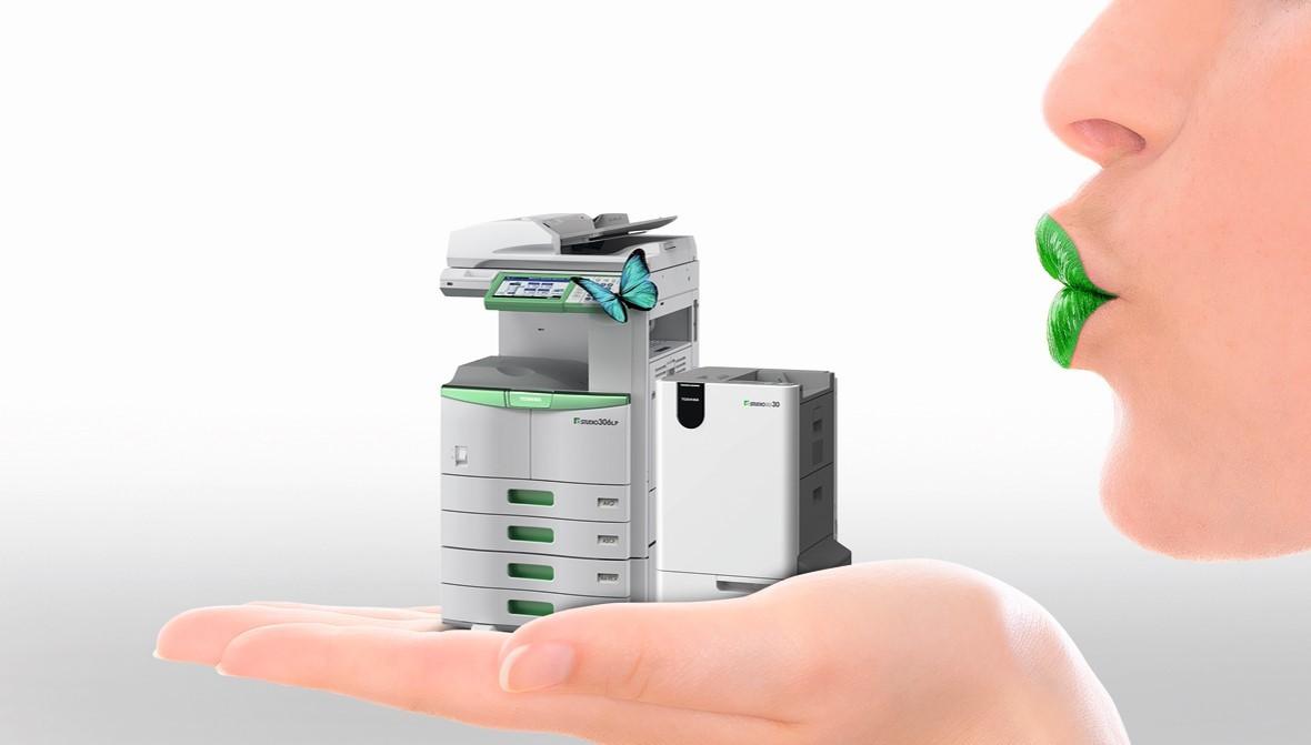 Toshiba e-STUDIO306LP lahko natisnjene liste tudi razbarva in ponovno uporabi.
