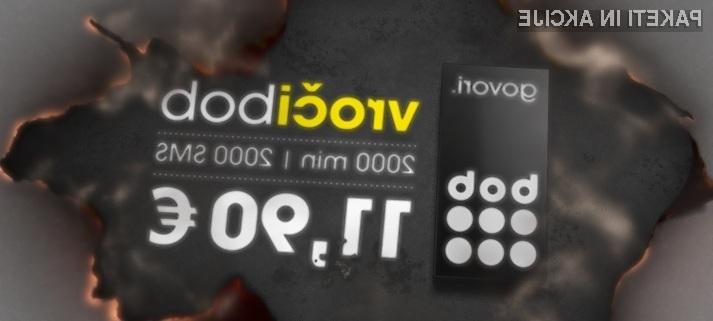 2.000 minut pogovorov in 2.000 SMS sporočil v vsa slovenska omrežja za le 11,90 evrov.