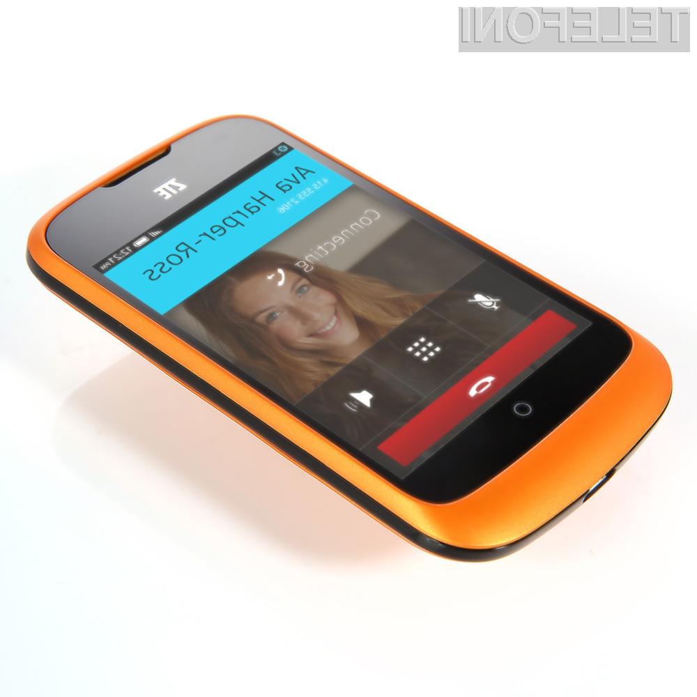 Cenovno ugoden mobilnik ZTE One je kot nalašč za manj zahtevne uporabnike in začetnike!