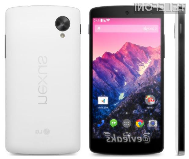 Mobilnik Google Nexus 5 naj bi ponujal odlično razmerje med ceno in zmogljivostjo!