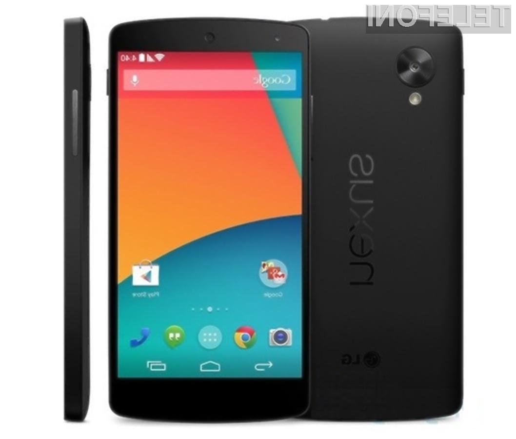 Pametni mobilni telefon Google Nexus 5 naj bi bil naprodaj že 28. oktobra!