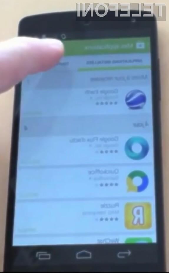 Pametni mobilni telefon Google Nexus 5 naj bi bil izjemno priročen za upravljanje in prijeten na dotik.