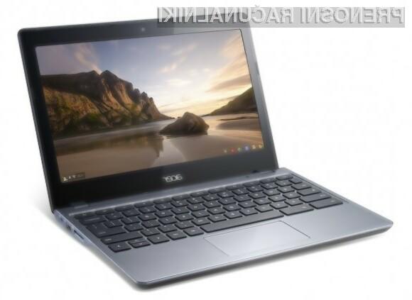 Prenosni računalnik Acer Chromebook C270 ponuja odlično razmerje med ceno in zmogljivostjo!