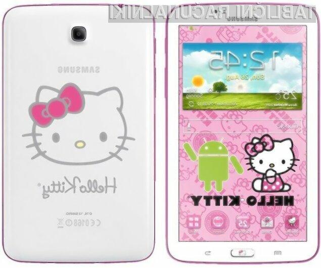 Nežnejši spol bo tablico Samsung Galaxy Tab 3 7.0 Hello Kitty Edition zagotovo takoj vzljubil!