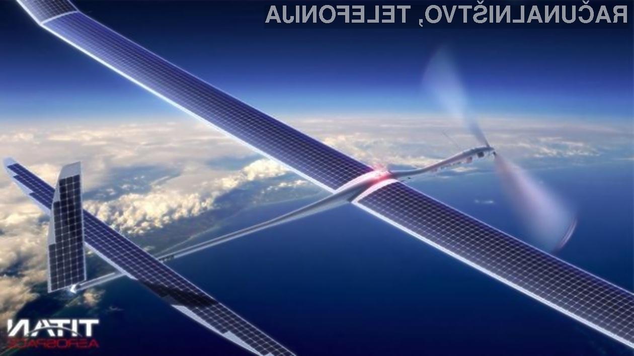 Letalo Solara 10 podjetja Titan Aerospace lahko brez pristanka preleti kar 4,5 milijonov kilometrov!
