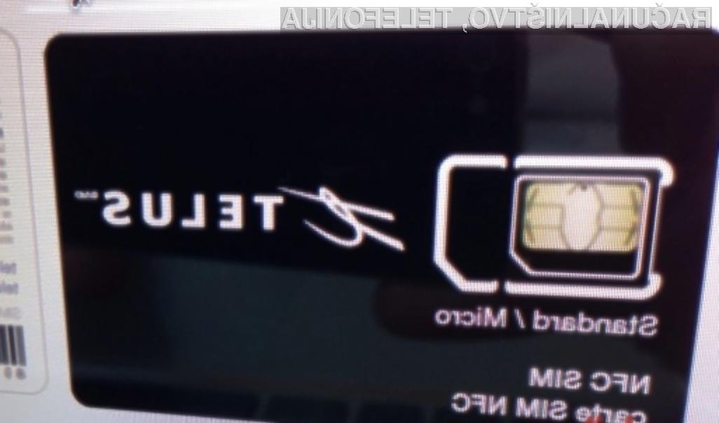 Telefonske kartice SIM bodo kmalu bogatejše za brezstično tehnologijo NFC!
