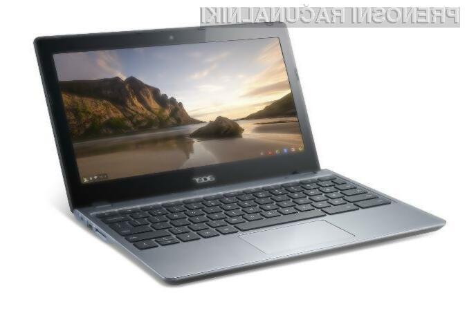 Kompaktni prenosni računalnik Acer Chromebook bo zlahka prepričal tudi nekoliko zahtevnejše uporabnike!