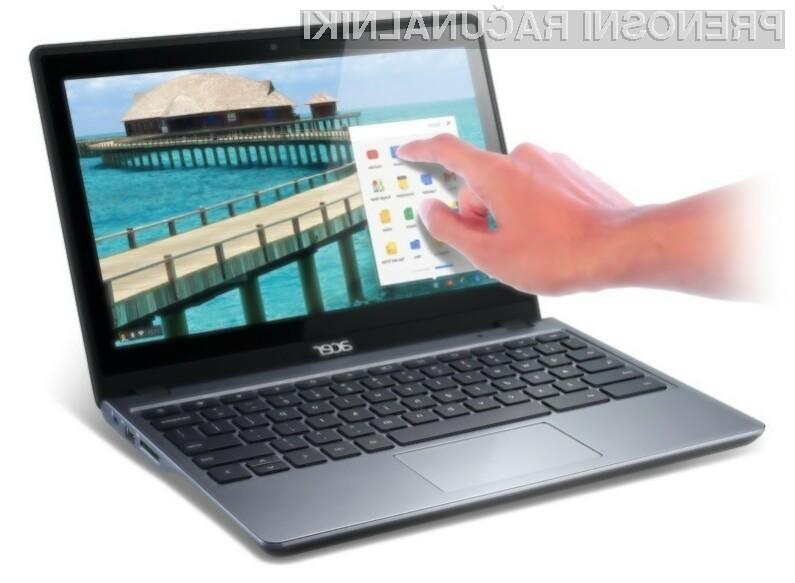 Kompaktni prenosni računalnik na dotik Acer Chromebook bo zlahka prepričal tudi nekoliko zahtevnejše uporabnike!