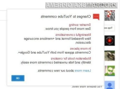 YouTube je nadgradil komentarje z Google+ integracijo