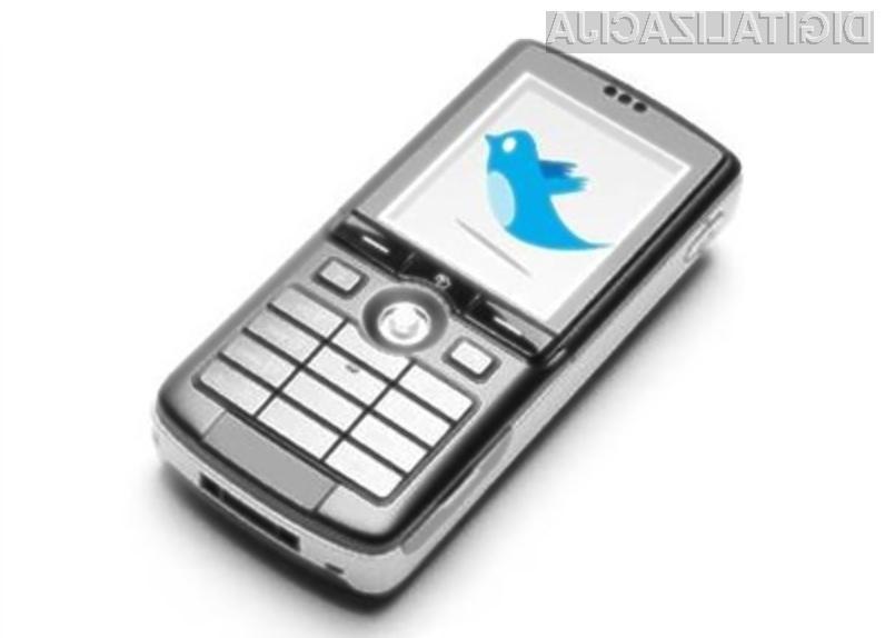 Uporabnikom družbenega omrežja Twitter bo kmalu omogočeno pošiljanje in prejemanje sporočil prek kratkih sporočil SMS!