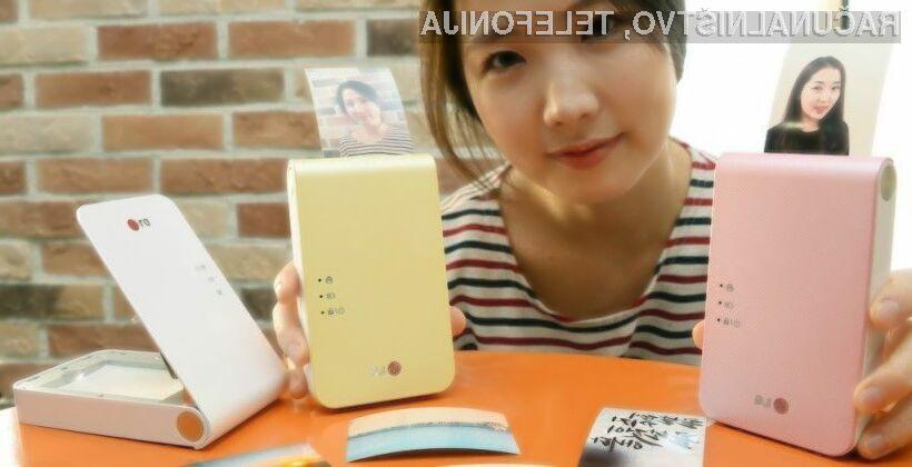S tiskalnikom LG Pocket Photo 2 nam bodo fotografije vedno na dosegu roke!