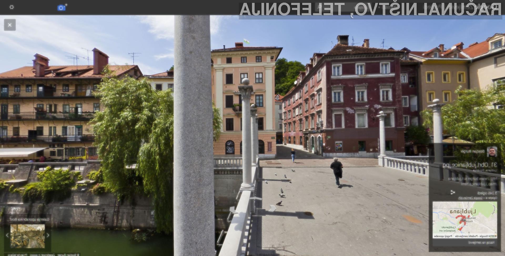 Z Googlom lahko sedaj gledate panoramske fotografije Slovenije.