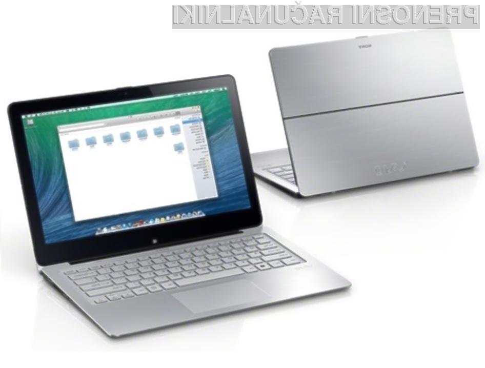 Operacijski sistem OS X bi se odlično prilegal prenosnim računalnikom Sony VAIO.