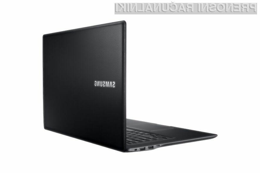 Prenosnik Samsung ATIV Book 9 Style bo pisan na kožo predvsem petičnežem in poslovnežem!