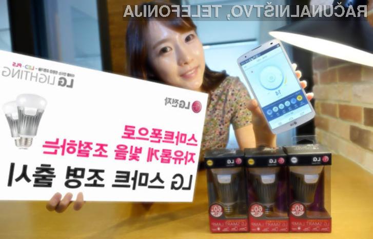 Pametno svetilko LG Smart Lighting  lahko upravljamo iz vseh naprav, ki so opremljene z mobilnimi operacijskimi sistemi Android in iOS.
