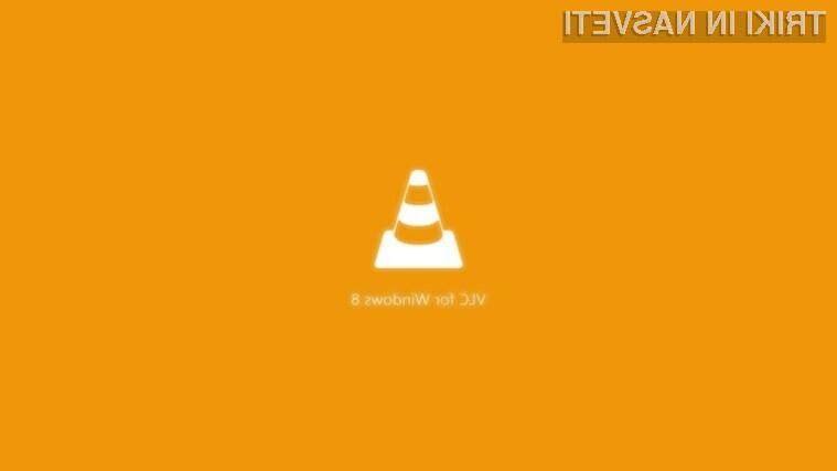 Večpredstavnostni predvajalnik VLC lahko odslej poganjamo kar neposredno v grafičnem vmesniku Windowsov 8.