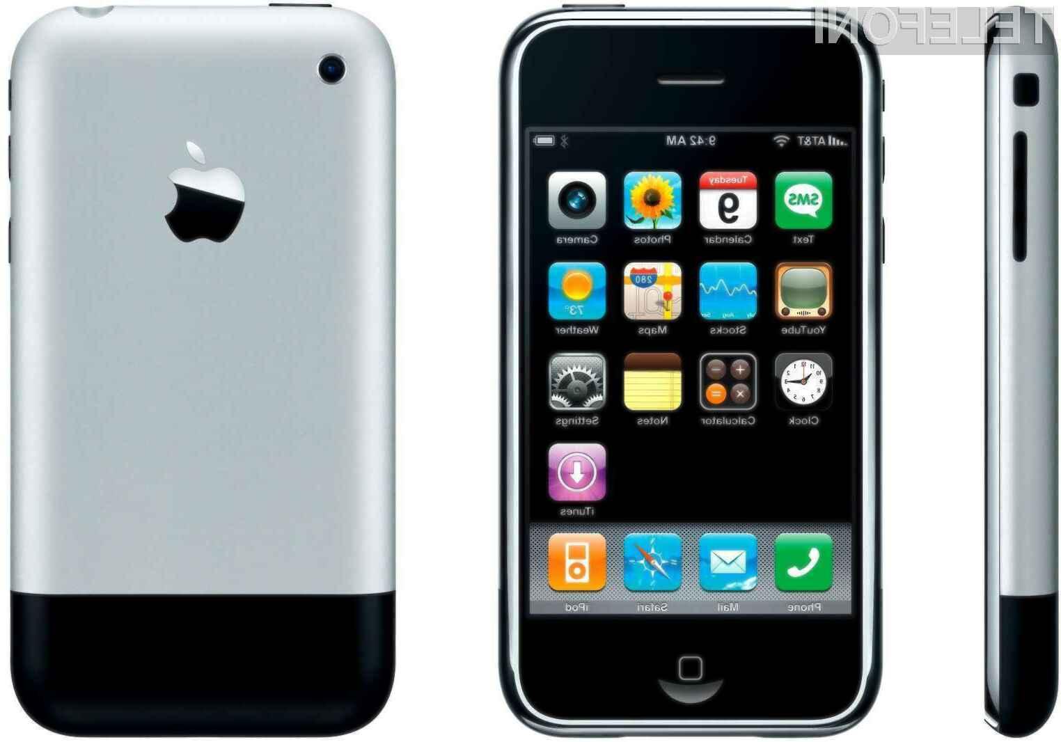 Čeprav je prvi mobilnik iPhone vsaj po funkcijah močno zaostajal za konkurenco, se je uporabnikom takoj prikupil!
