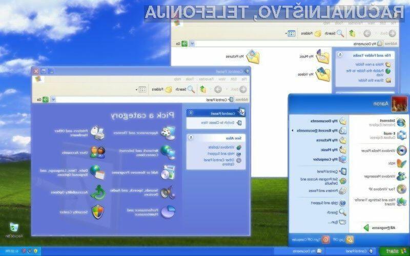 Čeprav se bo uradna podpora za Windows XP zaključila 8. aprila, nanj še vedno prisega slabih 28 odstotkov uporabnikov širom sveta.