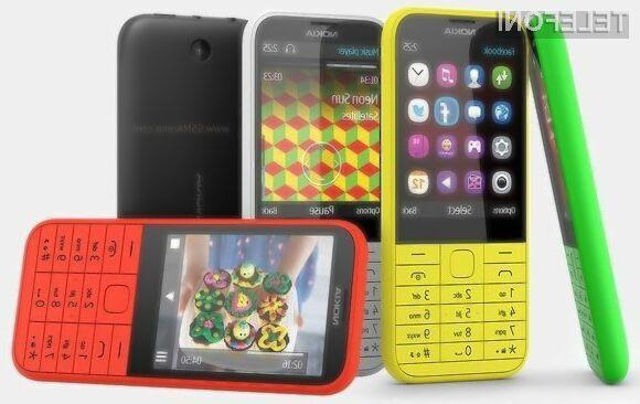Glavna aduta pametnega mobilnega telefona Nokia 225 sta enostavnost uporabe in dolga avtonomija delovanja.