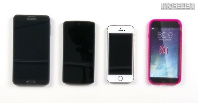 Pametni mobilni telefon Apple iPhone 6 bo po velikosti povsem primerljiv z Googlovim mobilnikom Nexus 5.