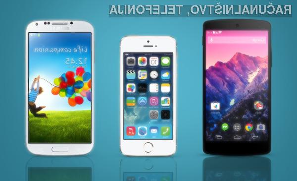 Uporabniki Applovih pametnih mobilnih telefonov onkraj luže so