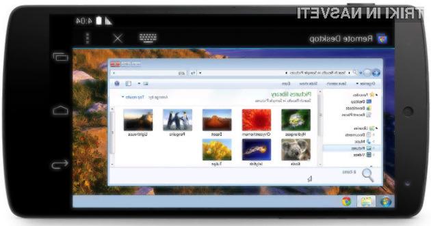 Osebne računalnike Windows in MacOS lahko upravljamo kar z mobilnimi napravami Android.