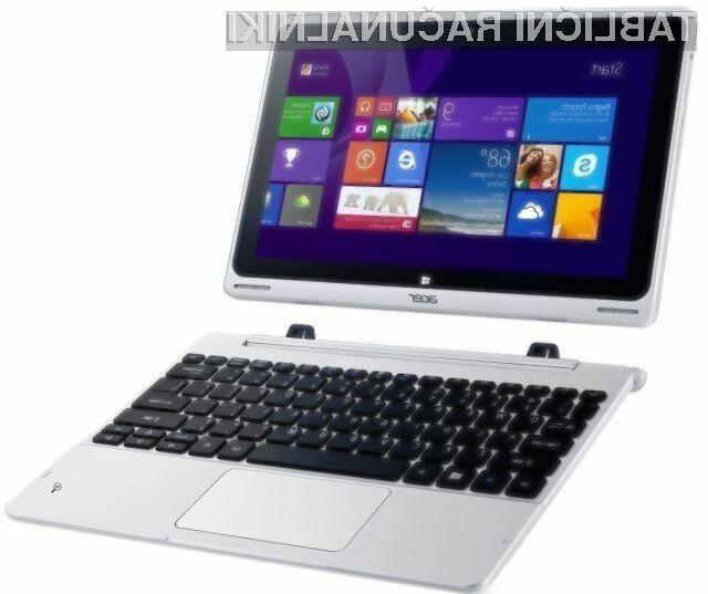 Hibridni Acer Aspire Switch 10 lahko iz prenosnika v tablico preobrazimo v zgolj nekaj sekundah.