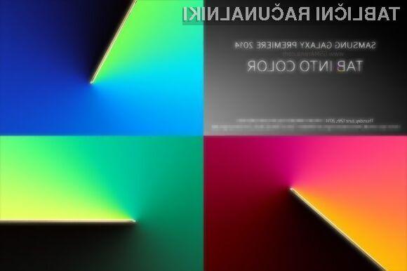 Glavni adut tabličnih računalnikov Samsung Galaxy Tab S bo izjemno kakovostni zaslon visoke ločljivosti.