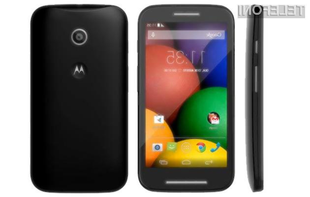 Za mobilnik Motorola Moto E naj bi bilo v Evropi potrebno odšteti manj kot 200 evrov.