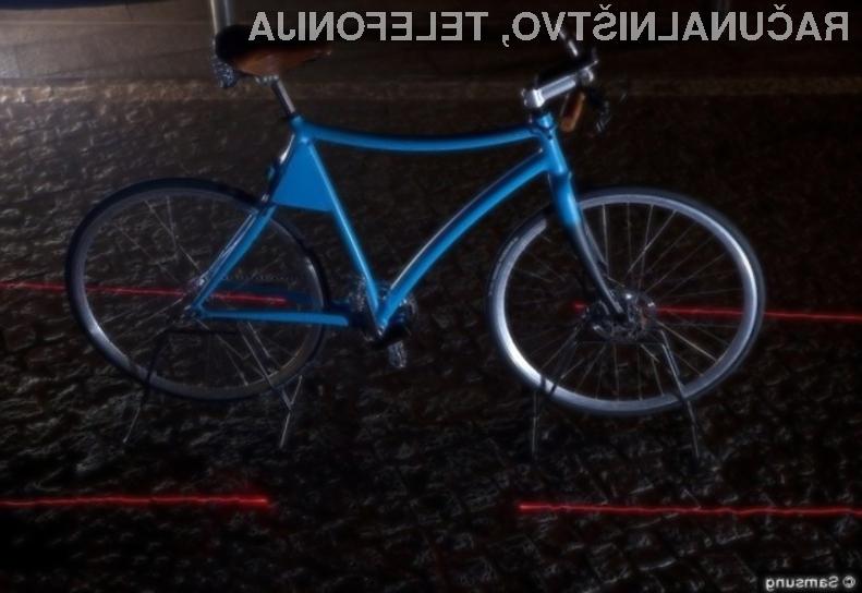 Pametno kolo Samsung naj bi kolesarjem zagotovilo precejšnjo mero dodatne varnosti.