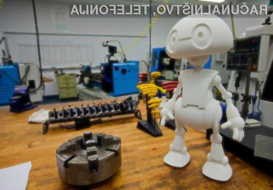 Intelovega robota bo potrebno natisniti z lastnim tridimenzionalnim tiskalnikom in ga na koncu tudi sestaviti!