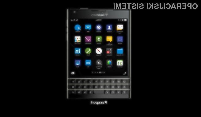 Kvadratni pametni mobilni telefon BlackBerry Passport ima vsaj po mnenju poznavalcev precej majhne možnosti za uspeh!