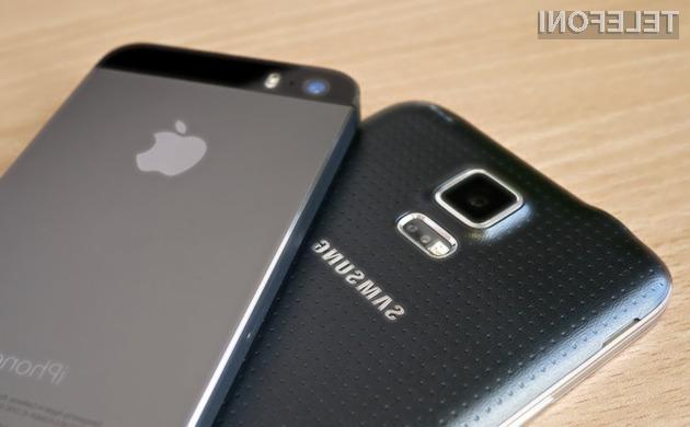 Med uporabniki storitev mobilne telefonije so še vedno zdaleč najbolj priljubljeni mobilniki podjetji Apple in Samsung.