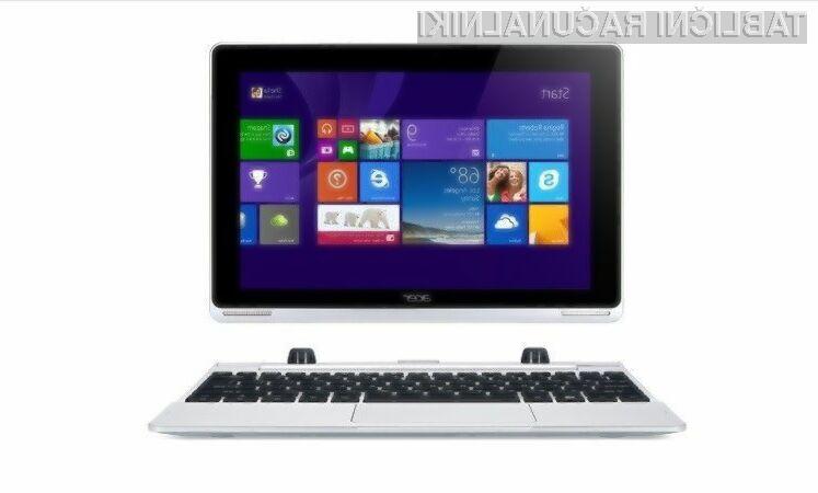 Hibridni Acer Aspire Switch 10 FHD lahko iz prenosnika v tablico preobrazimo v zgolj nekaj sekundah.