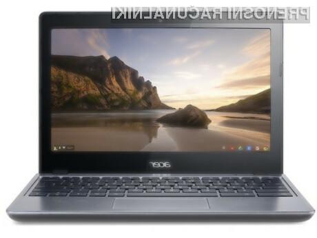 Prenovljeni prenosnik Acer C720 Chromebook bo zlahka kos tudi nekoliko zahtevnejšim opravilom!
