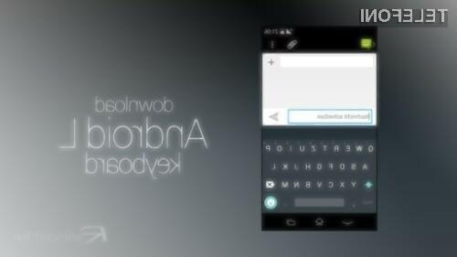 Tipkovnica pripravljena za mobilni operacijski sistem Android L v primerjavi z dosedanjimi ponuja marsikaj novega in zanimivega.