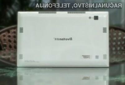 Tablični računalnik Livefan F2 na račun zmogljive strojne opreme lahko brez težav nadomesti prenosne računalnike.